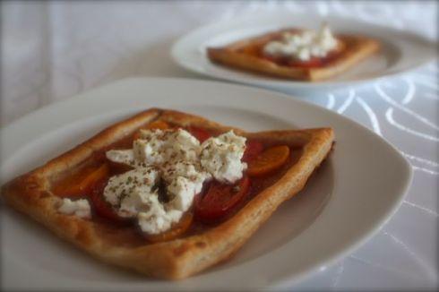 Mini Tomaten Ziegenkäse Tarte